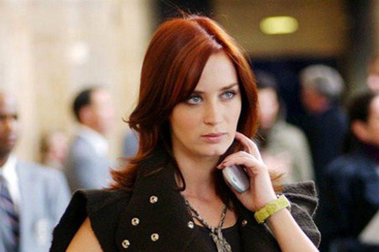 好萊塢女星艾蜜莉布朗自從演了《穿著PRADA的惡魔》後星運大開。圖/聯合報資料照