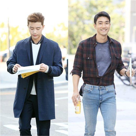 朴敘俊(左)、始源(右)兩大帥哥在戲中秀穿搭魅力。圖/MBC,bnt提供