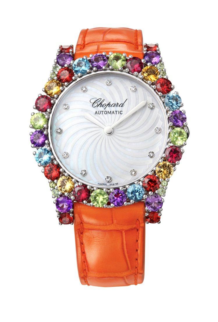 L'Heure du Diamant系列18K白金腕表,價格75萬6,000元。...