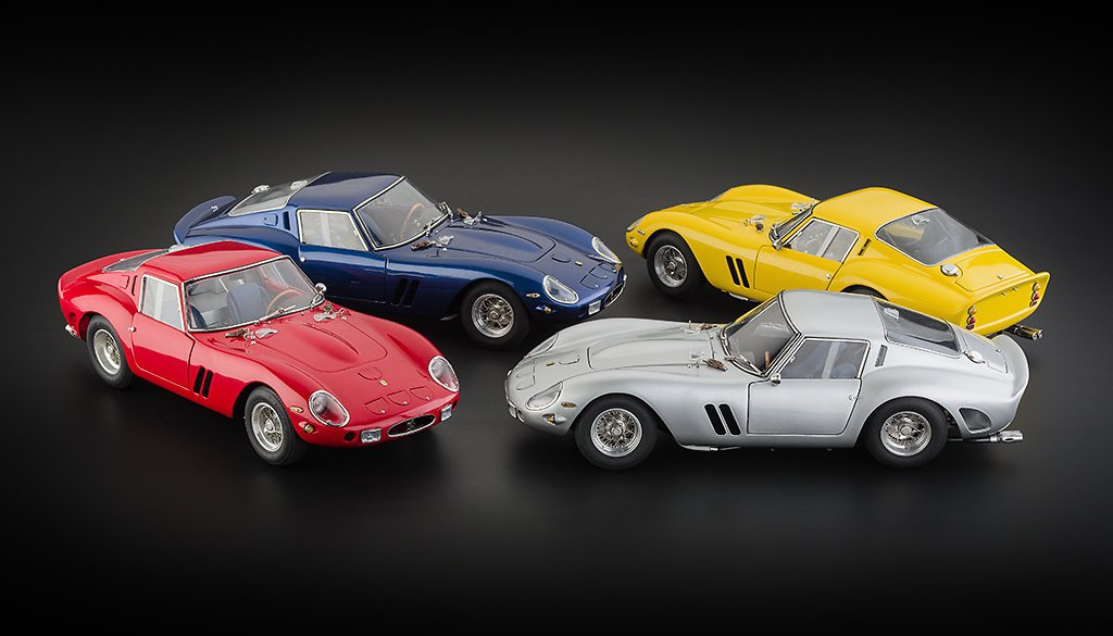 CMC Ferrari 250 GTO現階段推出4款素色版本,未來是否會有賽車號...