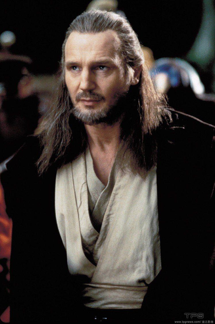 連恩尼遜演出《星際大戰》中絕地武士金魁剛。圖/達志影像