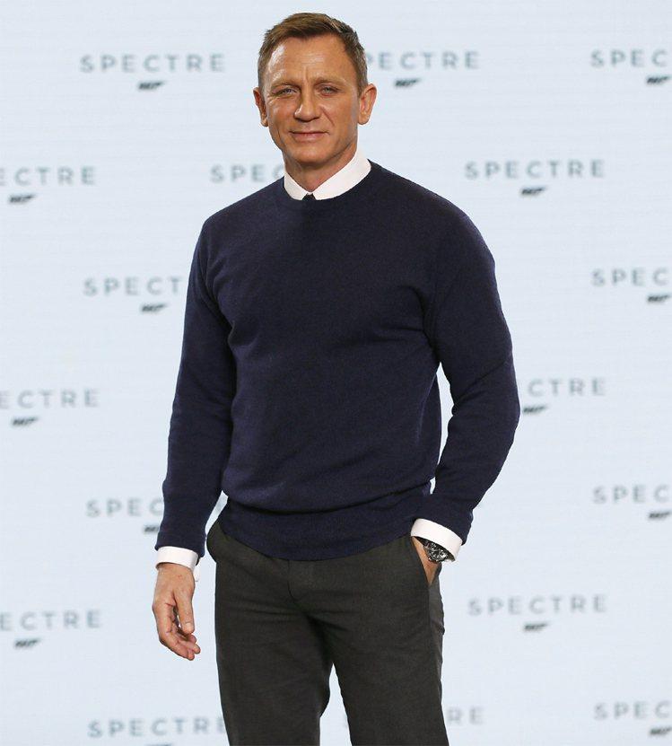現任007丹尼爾克雷格的臉也是標準老來等,老來帥的類型。圖/路透