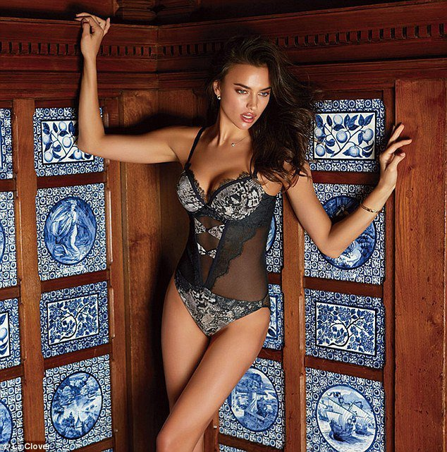 Irina Shayk 再度入鏡情趣內衣品牌 La Clover 新廣告。圖/擷...
