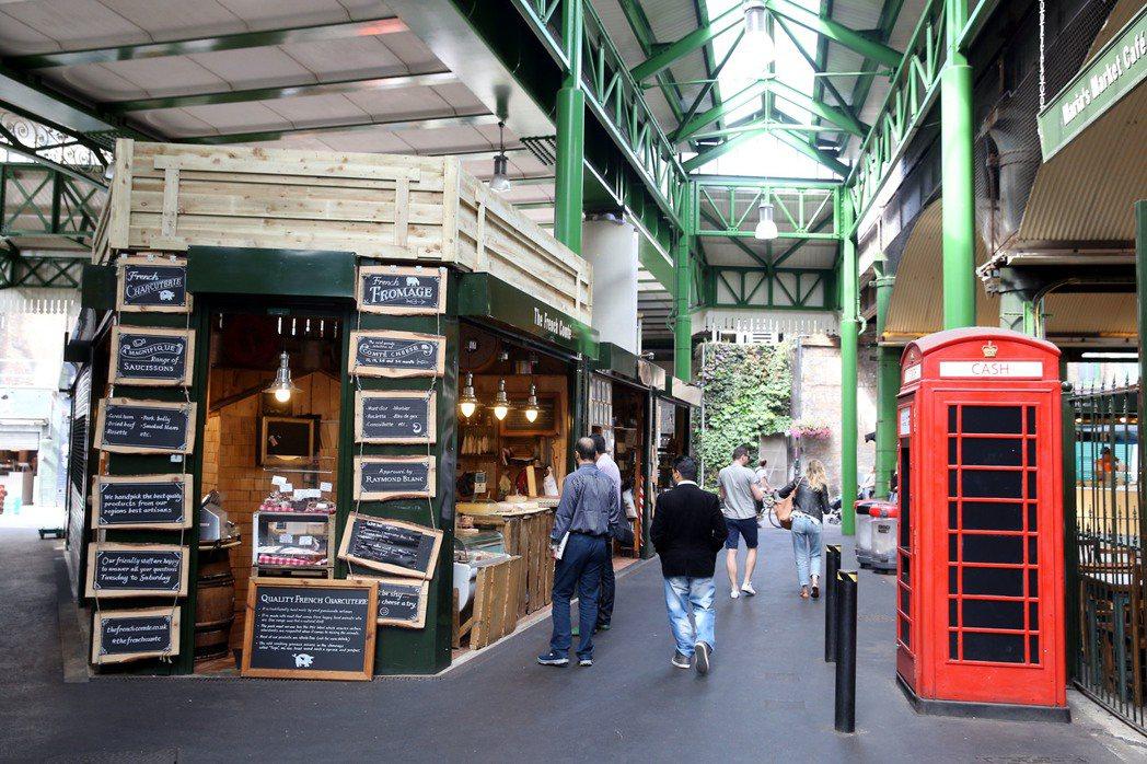英國倫敦Borough market千年老市場。 特派記者曾吉松/英、法攝影