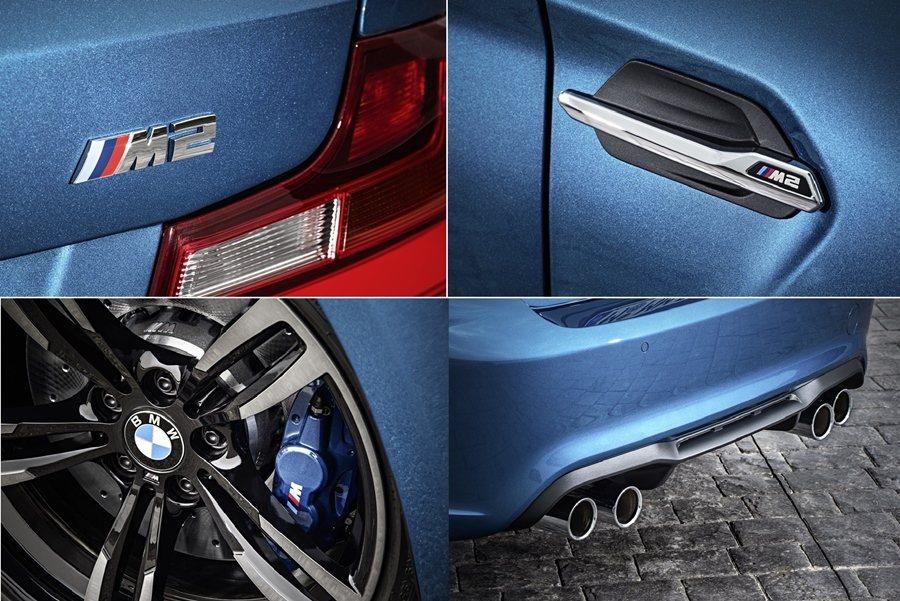 M2 Coupe以2系列為基礎加以改造,外型和內裝具備許多M特質,像是前氣壩有加...