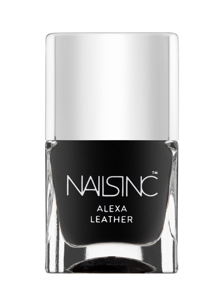 Alexa Leather皮革質感的黑色。圖/Nails Inc.提供