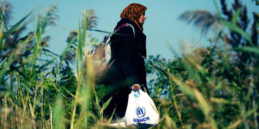 對於難民而言,最需要帶上路的,可能是運氣。 圖/美聯社