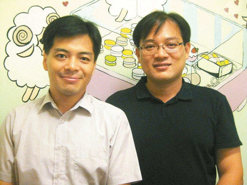 謝東昇(右)、謝竣翔兄弟感情融洽,謝東昇自認和古意老實的弟弟個性互補,謝竣翔認為...
