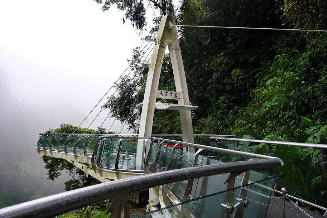 天空步道可以近距離欣賞瀑布及溪谷美景。 記者陳威任/攝影