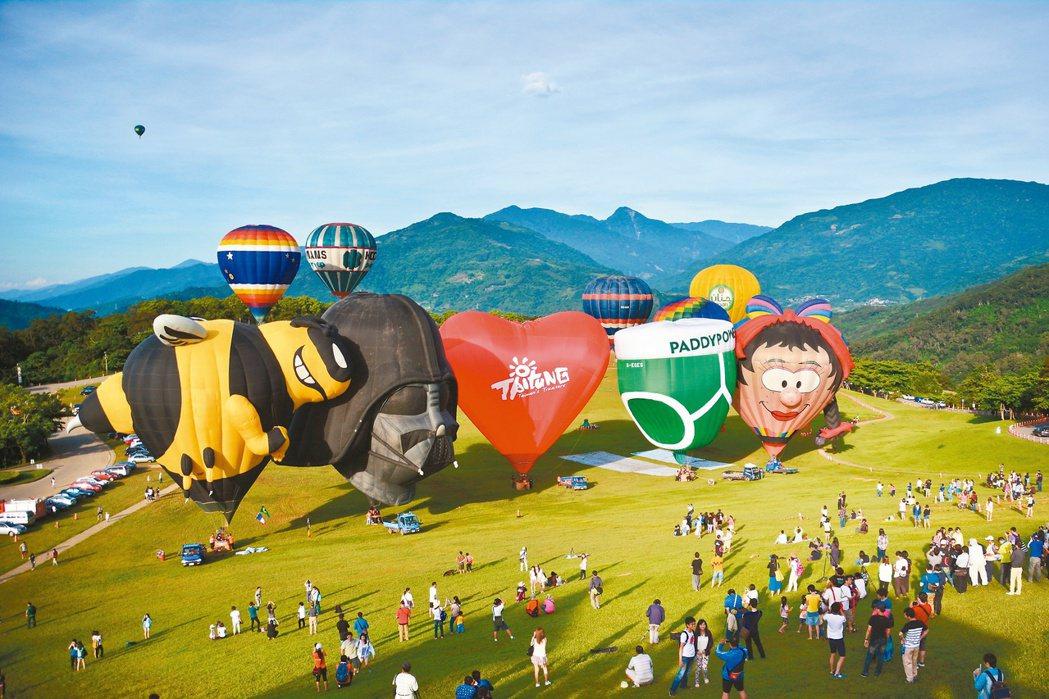 悠閒的生活步調、豐富的自然景觀,加上力推熱氣球、鐵道村等創意觀光奏效,台東縣今年...