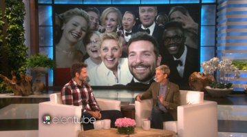 2014年奧斯卡頒獎典禮上主持人艾倫狄珍妮絲(Ellen DeGeneres),讓台下的好萊塢大明星自拍合照,照片一上傳到推特上創作下轉發記錄,而最近布萊德利庫伯(Bradley Cooper)宣傳...