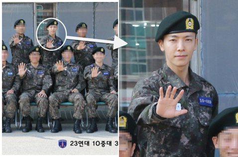 韓國男子組合SUPER JUNIOR成員東海在訓練所的照片被公開,穿著軍裝的樣子非常精神帥氣。20日,東海所在陸軍部隊訓練所公開了其所屬小分隊的照片。照片中,東海穿著軍裝站在正中間的位置,和同期的新...