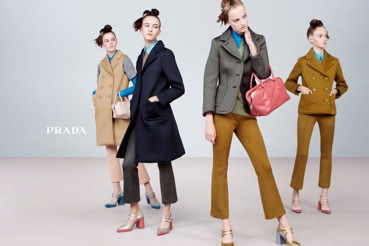 PRADA秋冬也推出許多低跟鞋。圖/PRADA提供