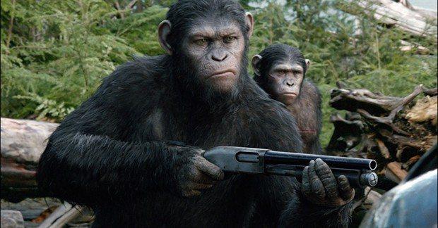 「猩球崛起」電影劇照。圖/福斯提供