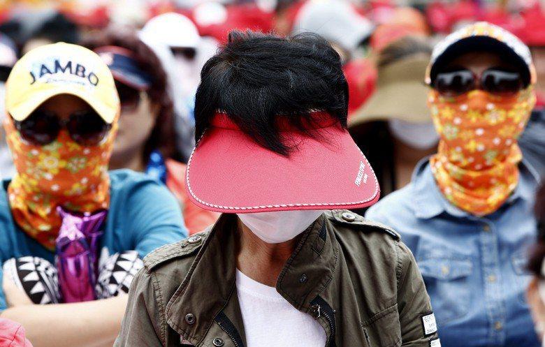 韓國上千名性工作者抗議政府打擊性交易。 圖/歐新社