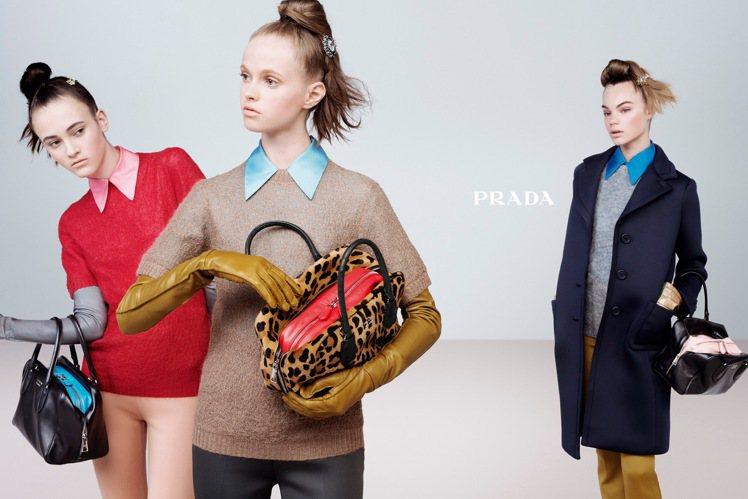 PRADA 和 MIU MIU 秋冬都將領子帶回時尚舞台。圖/PRADA提供