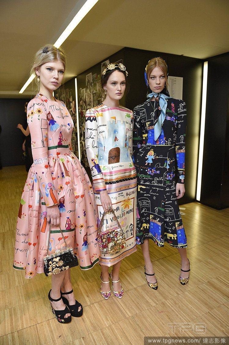 Dolce & Gabbana 視孩子們的塗鴉為珍寶。圖/達志影像