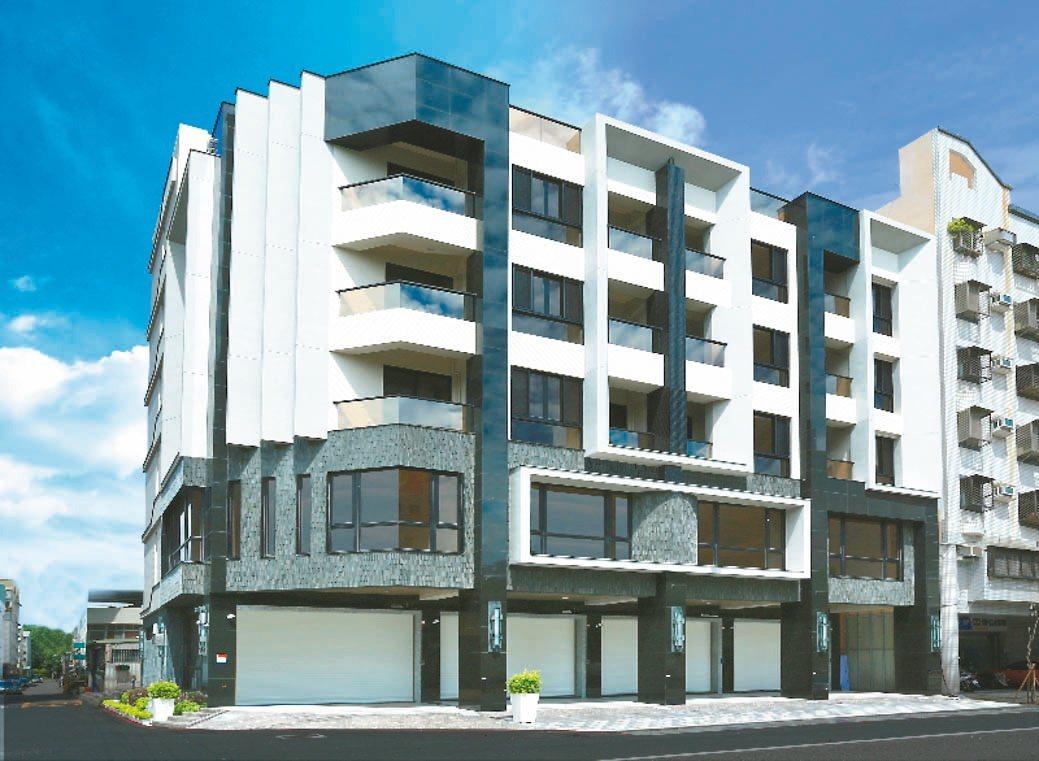 「築藝NO.7」共蓋4戶,全是6樓的電梯透天店墅。 圖/協暘建設提供