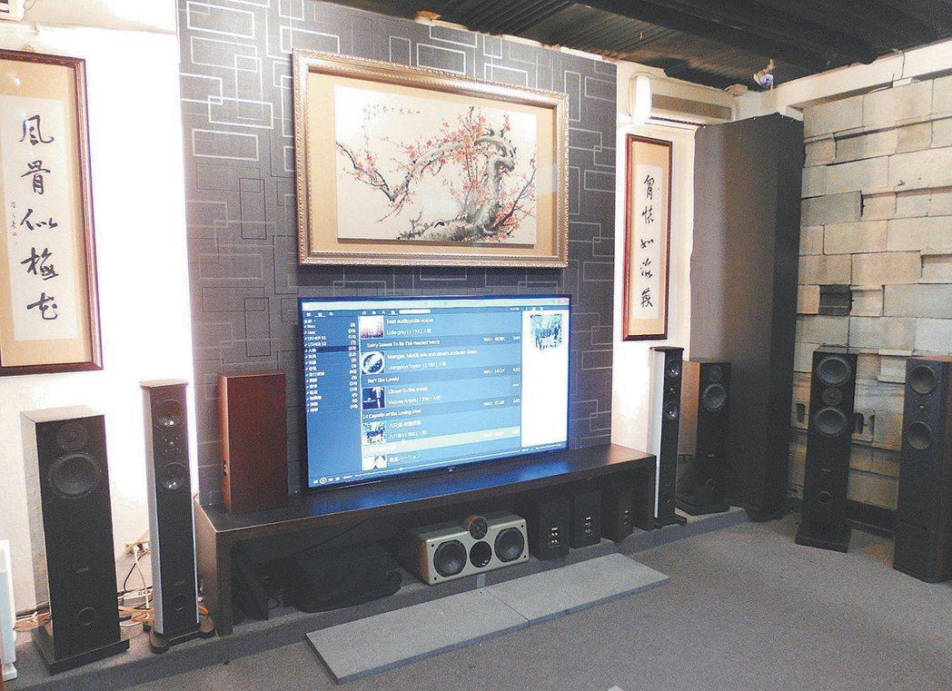 雅瑟音響在台北門市的試聽室。 記者張義宮/攝影
