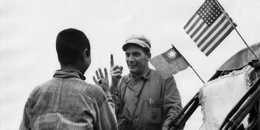 國共內戰開打後,美國一方面在馬歇爾的主導下尋求停戰,二方面也加速陸戰隊與國軍的換...