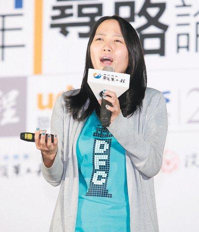 社團法人臺灣童心創意行動協會理事長許芯瑋。 記者蘇健忠/攝影
