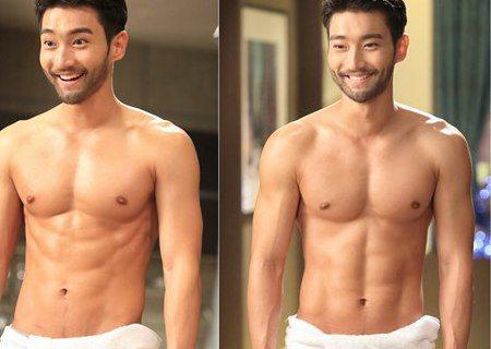 韓國組合Super Junior成員崔始源在電視劇《她很漂亮》中曬出腹肌,網友直呼身材完美。《她很漂亮》劇組今天(27日)公開了一張劇照,劇照中的崔始源僅用一條浴巾裹住下半身,完美的八塊肌一覽無餘,...