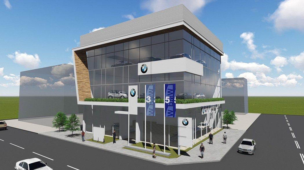 即將於2016年落成之BMW台中汎德北屯展示中心。 圖/汎德提供
