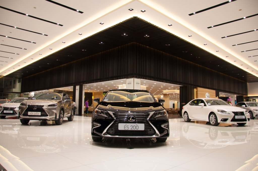 Lexus台中營業所是全東南亞最大的旗艦店。 圖/和泰汽車提供