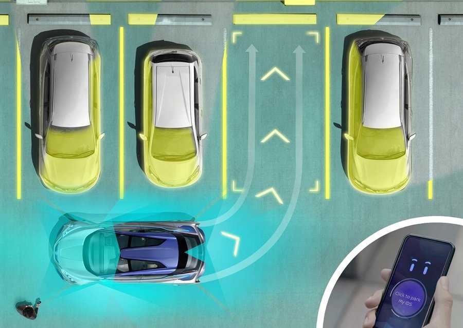 IDS Concept具有自動停車功能,車主可利用手機遠距遙控。