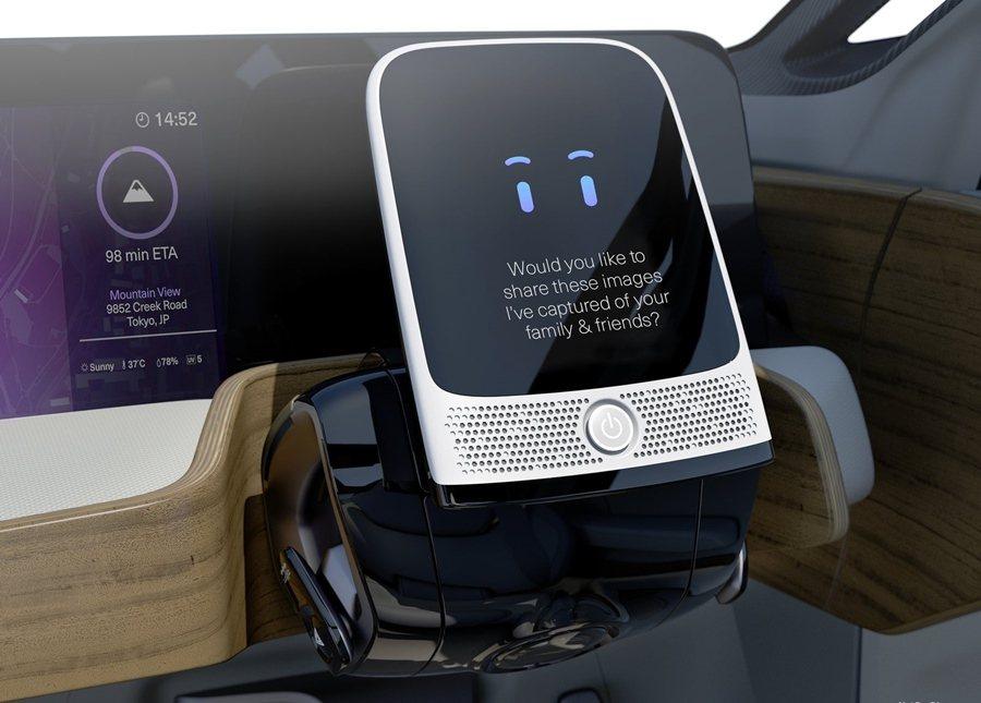 中控台螢幕就是一個平板,能和車主乘客互動。