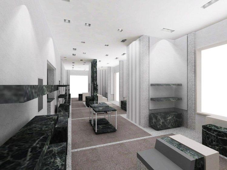 BALENCIAGA巴黎世家微風信義全新概念店景。圖BALENCIAGA提供