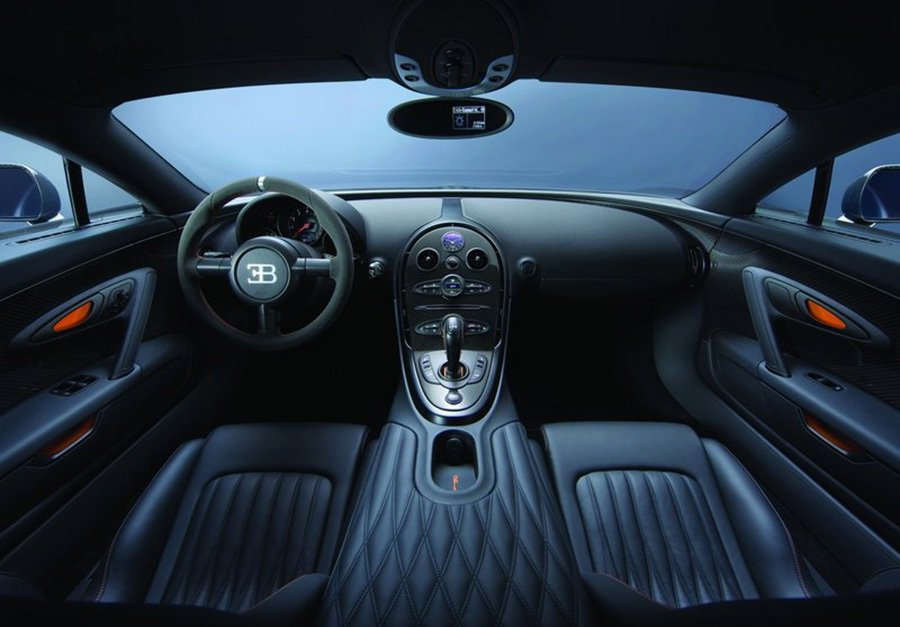 Bugatti Veryon Super Sport車主可客製化座艙的用料。 B...
