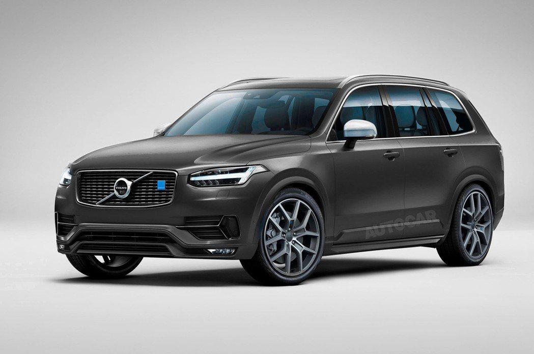 高性能版本的Volvo XC90 Polestar有機會問世。 圖/截自auto...