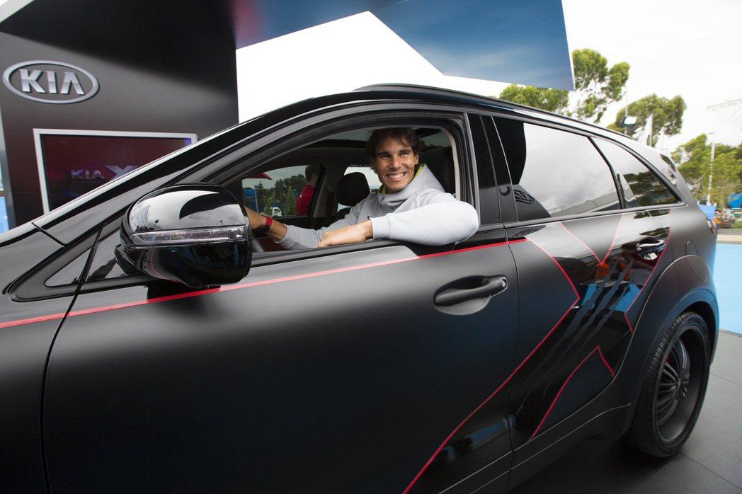 西班牙蠻牛Rafael Nadal與韓國車廠KIA長期合作。 圖/KIA提供