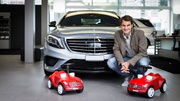 瑞士球王Roger Federer與Mercedes-Benz合作。 圖/Mer...