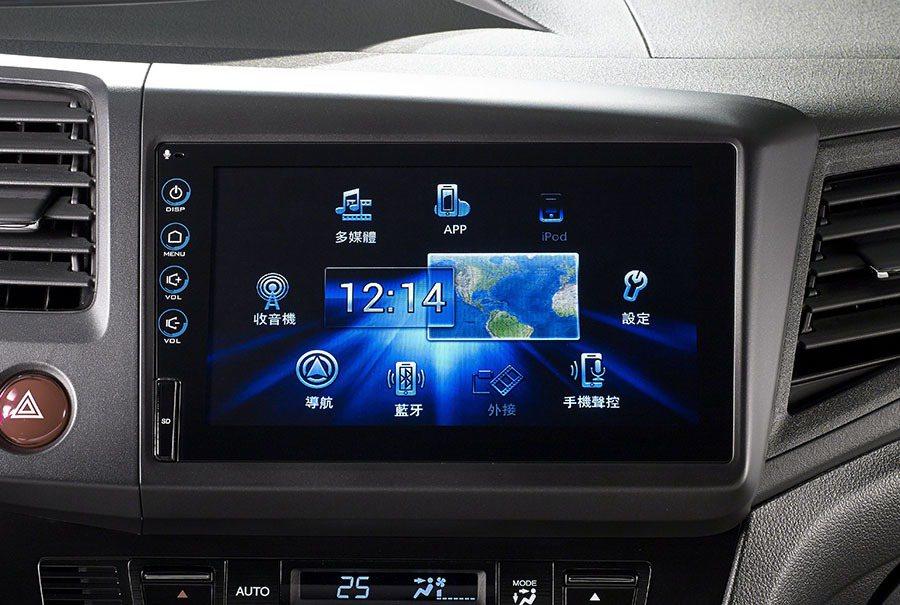 Honda CIVIC在1.8 VTi-S以上車型採用8吋電容式多點觸控螢幕。 ...