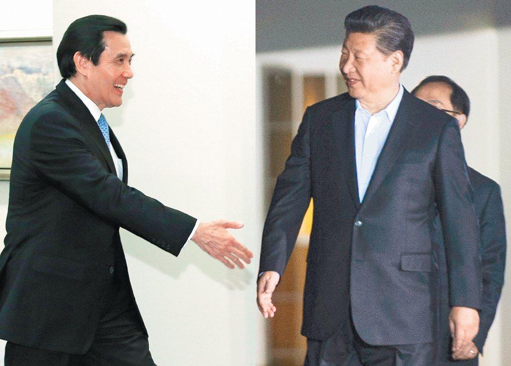 馬英九(左)、習近平(右)。 圖/報系資料照、新華社