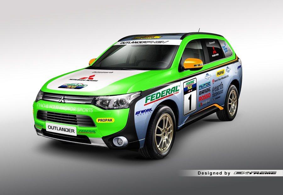 另外,Outlander PHEV油電賽車,今年參加泰北舉行的亞洲越野拉力賽,成...