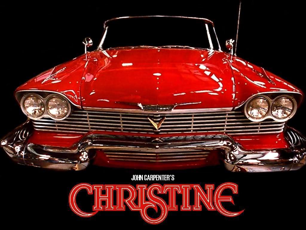 經典恐怖電影「克麗絲汀魅力」,片中那部1958年的普里茅斯Plymouth紅色敞...