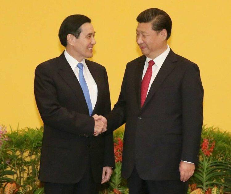 2015年馬習會,前總統馬英九(左)、大陸國家主席習近平(右)。 聯合報系採訪團...