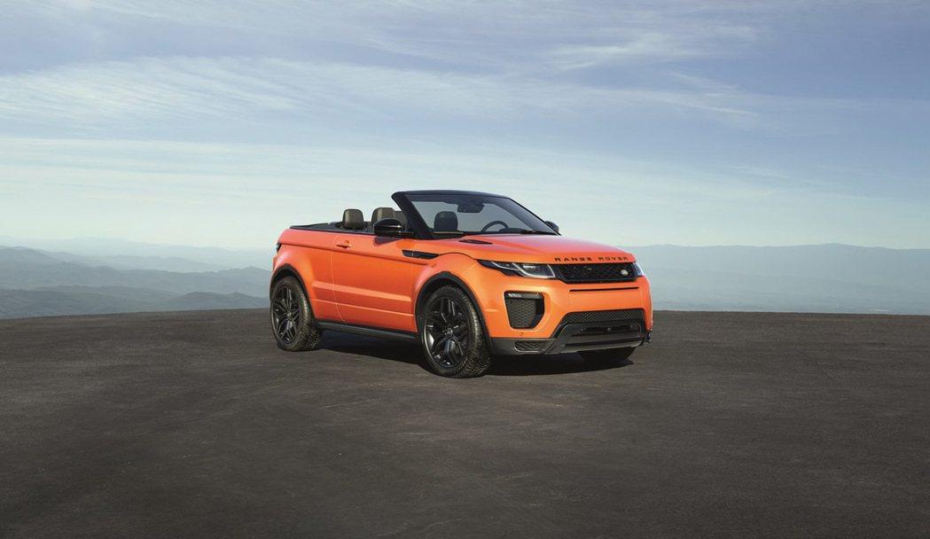 全球首款跨界軟篷休旅 Range Rover Evoque Convertibl...