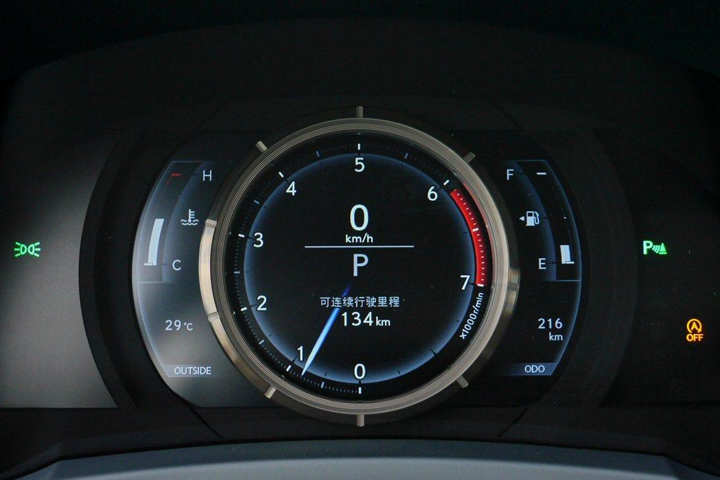 移植自自家超跑LFA的移動式儀表,透過按鍵能讓儀表左右橫移。 記者陳威任/攝影