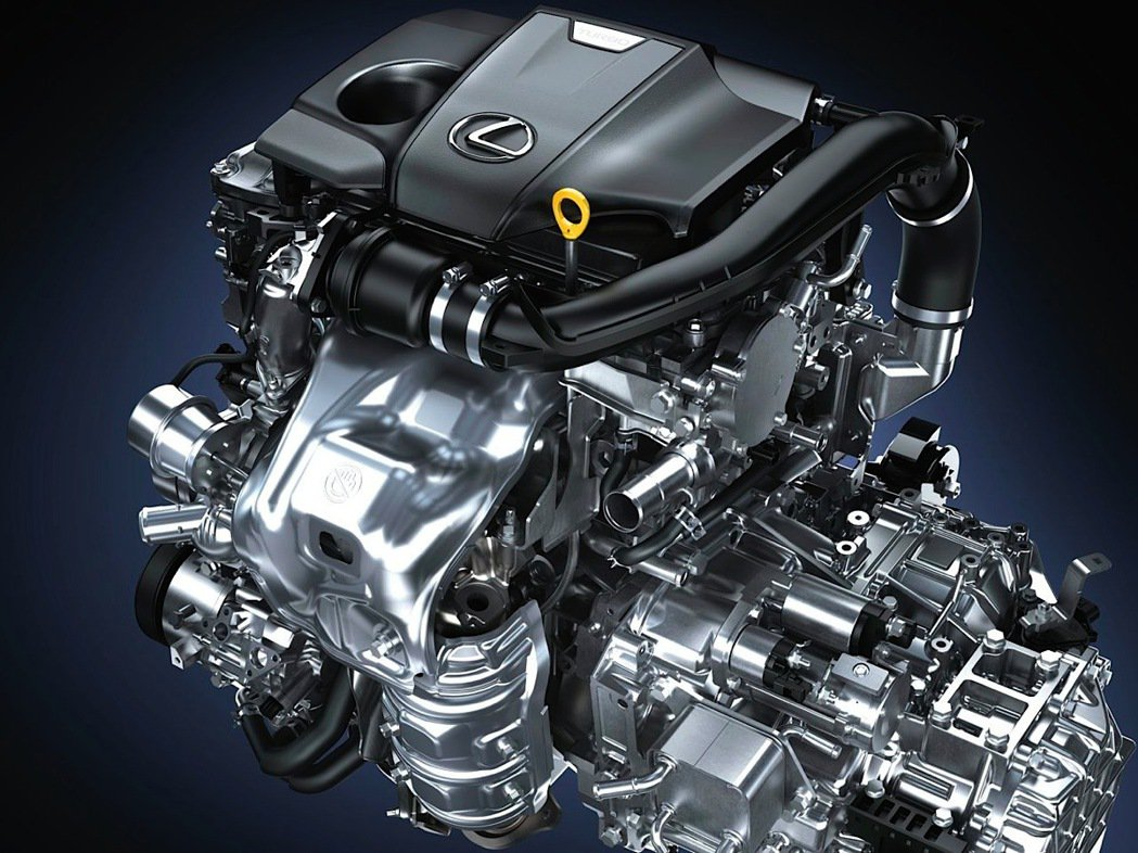 搭載代號8AR-FTS的2.0升直列四缸雙渦流渦輪增壓汽油引擎。 圖/Lexus...