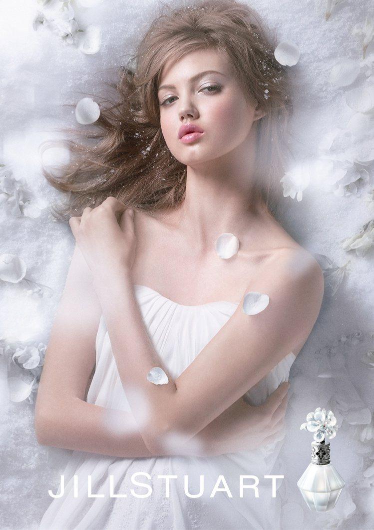 花朵與雪的邂逅!香調澄澈優美的JILLSTUART花鑽香水。圖/JILLSTUA...
