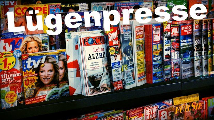 「Lügenpresse」指的是「謊言媒體」,在2014年票選為年度濫用詞。 p...
