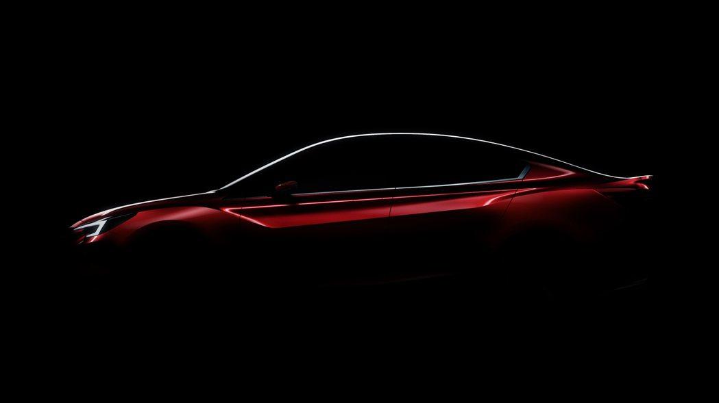 全新Impreza四門版概念車,預告將在今年11月17日洛杉機車展上亮相。 摘自...