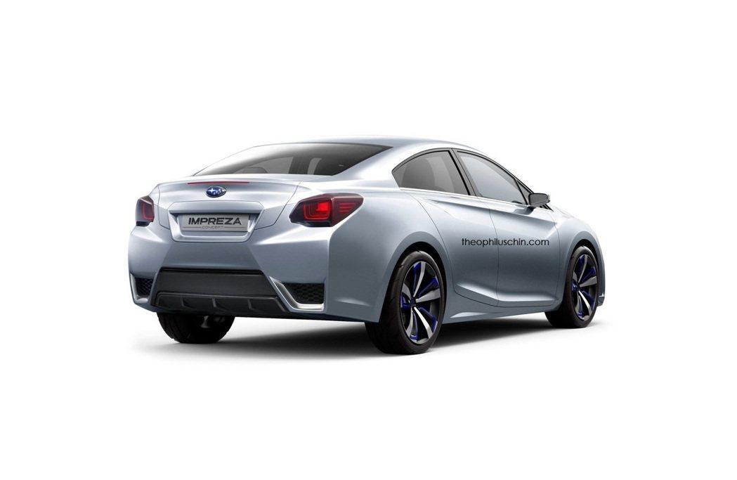 車尾部份,除了保桿造型設計與五門車型稍有不同外,尾燈樣式也有所修飾。 摘自the...