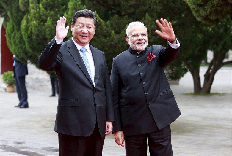 中國國家主席習近平與印度總理莫迪。 圖/路透社