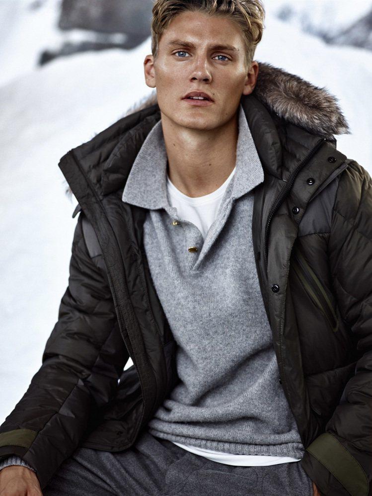 Massimo Dutti首次在台販售滑雪男裝系列,風格相當時髦吸引人。圖/Ma...