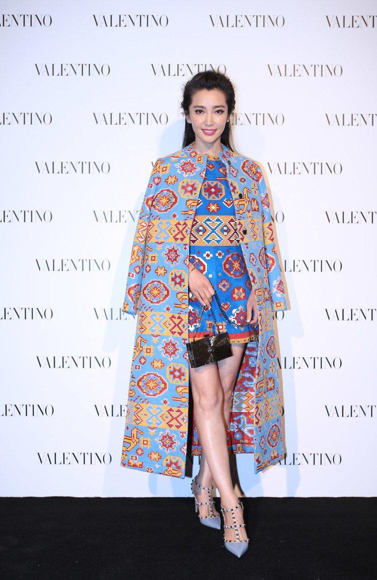 李冰冰出席 Valentino 上海國金中心新店開幕活動。圖/Valentino...